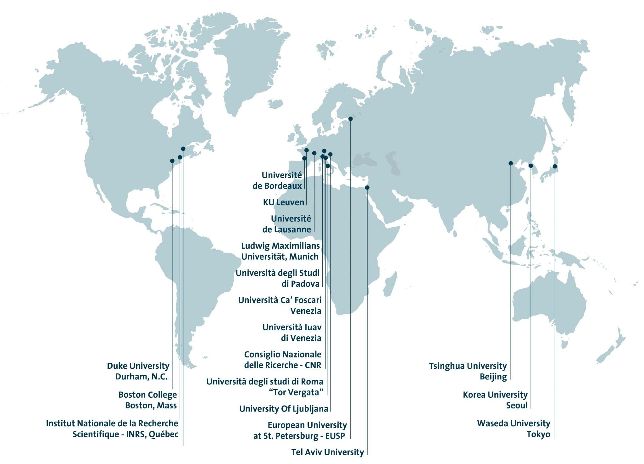 Tsinghua University Campus Map.Members Venice International University