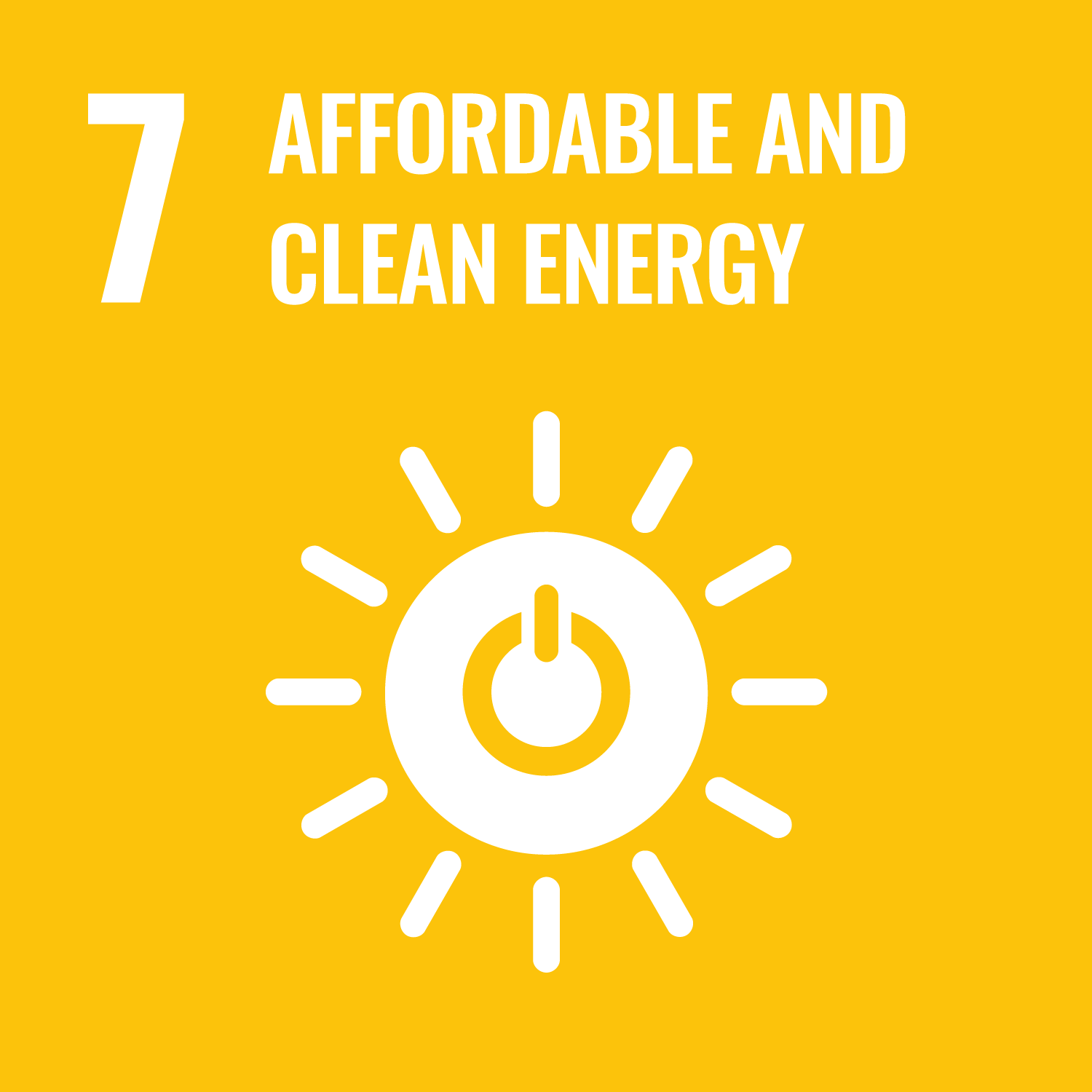 Goal 07 Affordable and Clean Energy