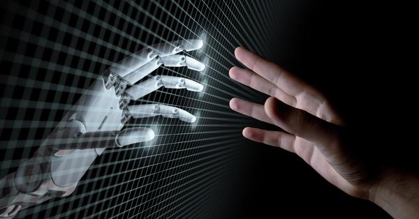 AI - hands touching