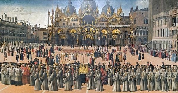 Bellini - procession in piazza san marco