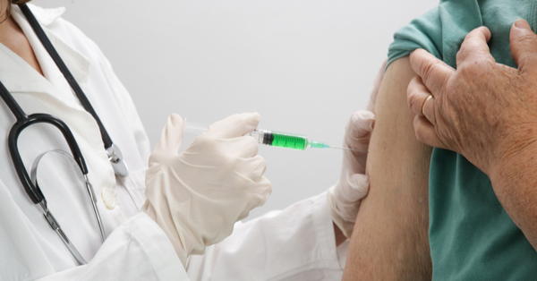 vaccination of old person