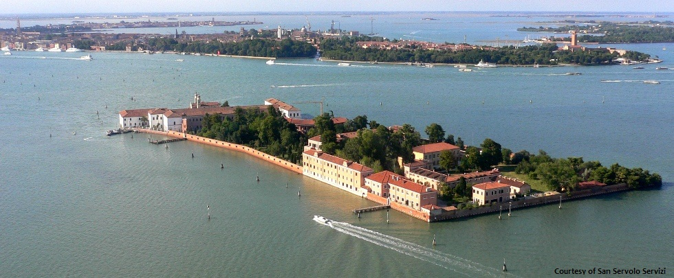 Venice International University from the air