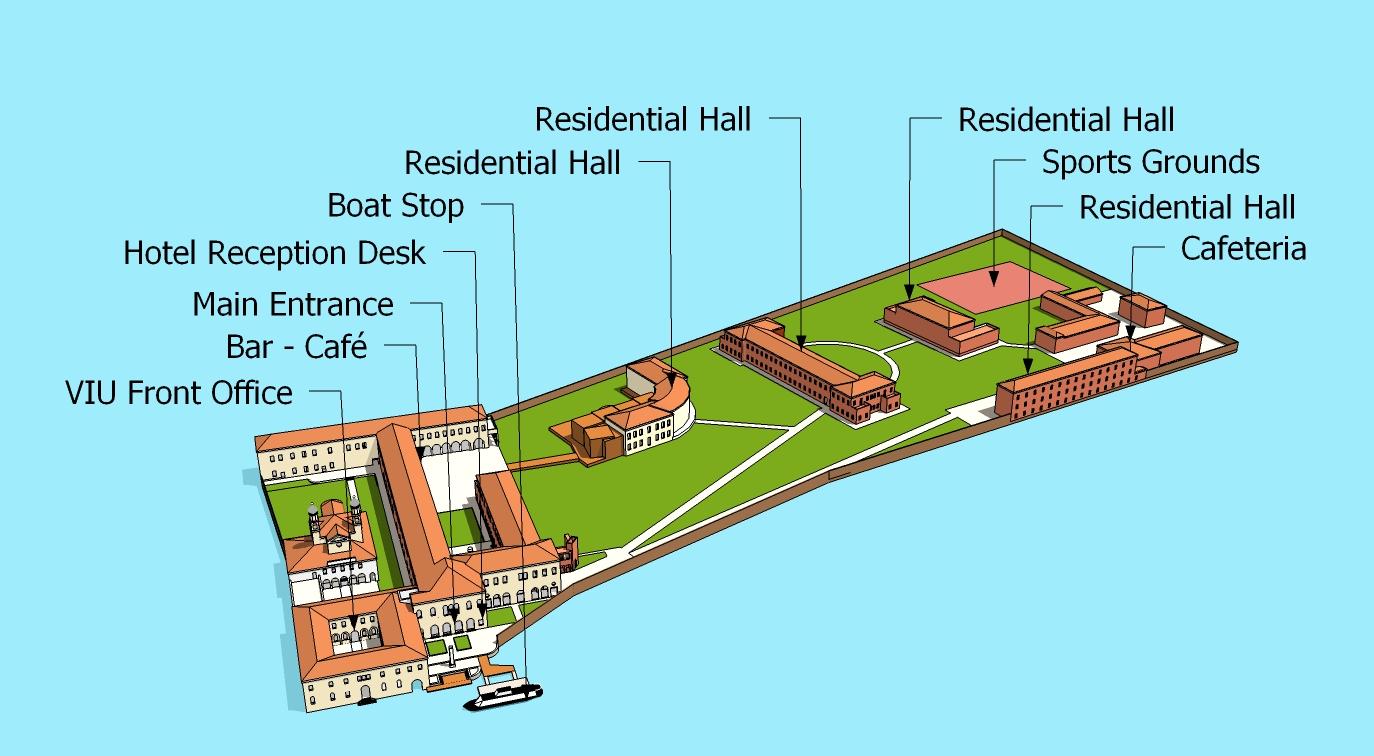 Tsinghua University Campus Map.Campus Facilities Venice International University